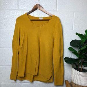 Talbots Mustard Yellow Cotton Sweater
